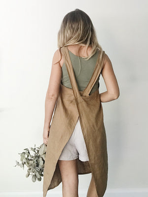 'Everyday' Linen Apron - Clay