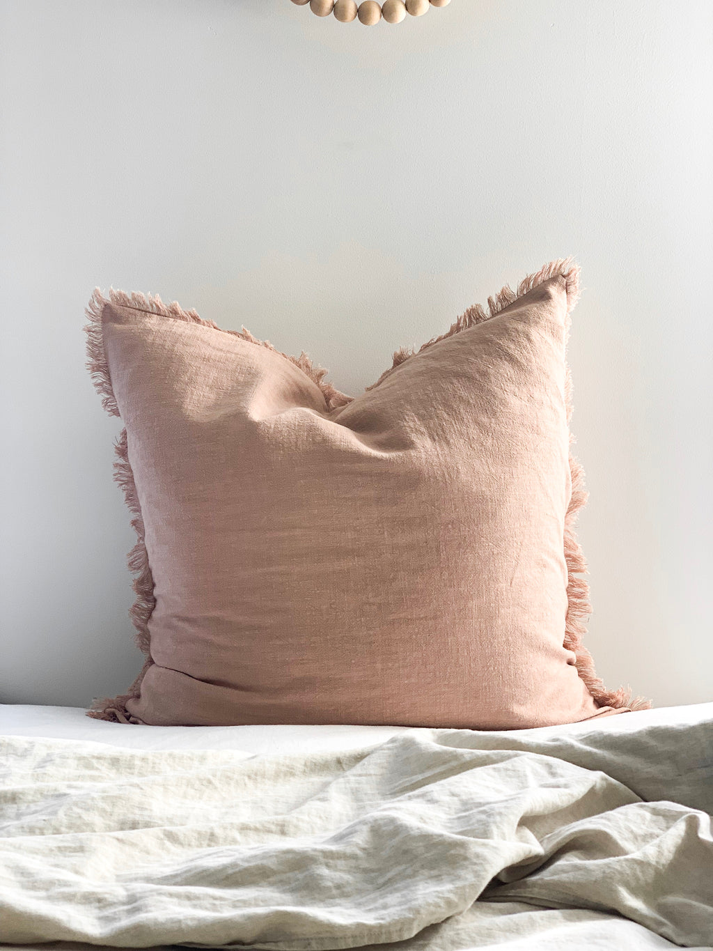 Ramie Euro Cushion - Blush