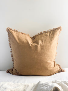 Ramie Euro Cushion - Cinnamon