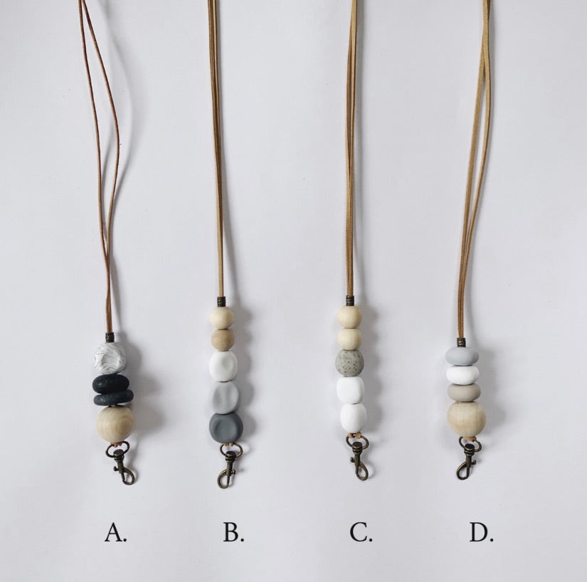 Clay Lanyards - (Grey/Neutral Tones)