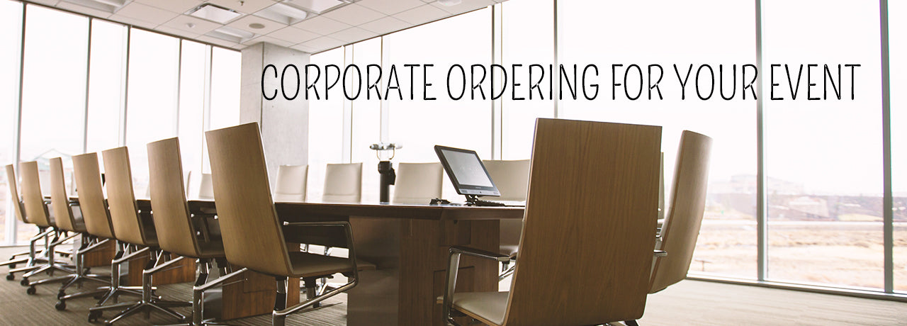 Corporate ordering for your event