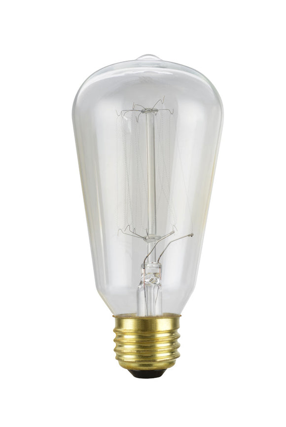 # 10001 S19 Vintage Edison Filament Light Bulb, 60 Watt, E26 Medium Base, 6 Pack