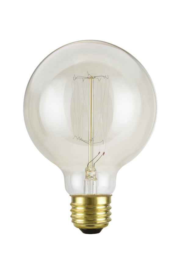 # 10002  G30 Vintage Edison Filament Light Bulb, 60 Watt, E26 Medium Base, 6 Pack