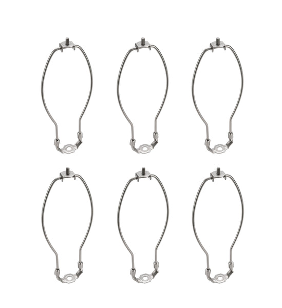 "# 20002-26 8 1/2"" Lamp Harp with Saddle in Satin Nickel Finish, 6 Pack"