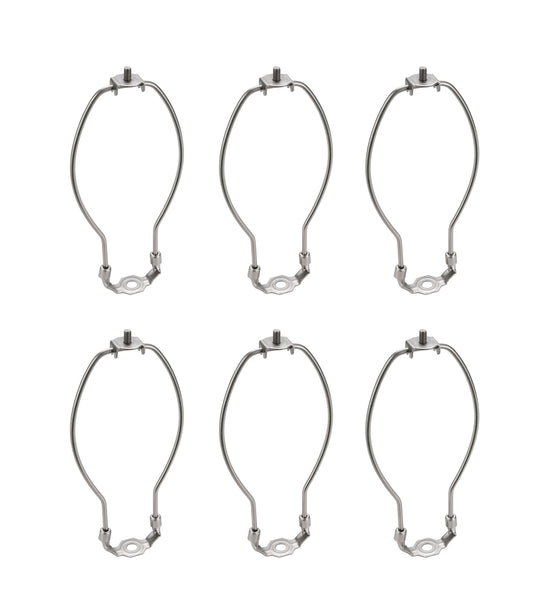 "# 20005-26 7"" Lamp Harp with Saddle in Satin Nickel Finish, 6 Pack"