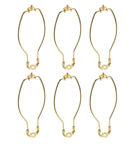 "# 20006-16 10"" Lamp Harp with Saddle in Polished Brass Finish, 6 Pack"