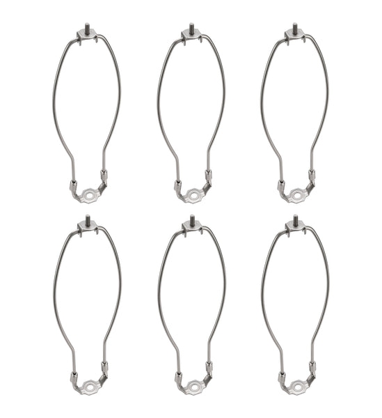 "# 20008-26 11"" Lamp Harp with Saddle in Satin Nickel Finish, 6 Pack"