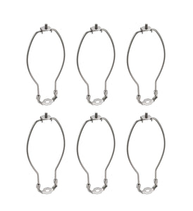 "# 20009-26 9 1/2"" Lamp Harp with Saddle in Satin Nickel Finish, 6 Pack"
