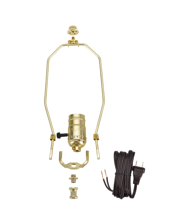 # 21011 Make-A-Lamp Kit in Polished Brass, 1 Pack