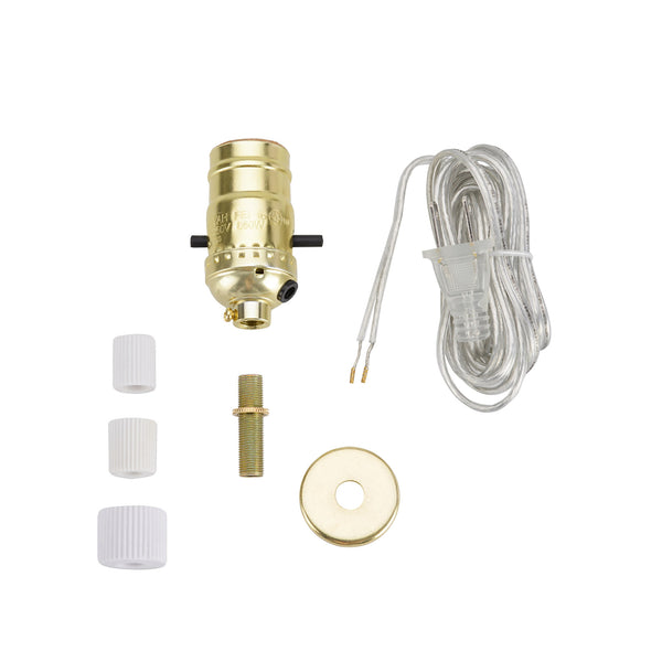 # 21013 Make-A-Bottle Lamp Kit in Polished Brass, 1 Pack