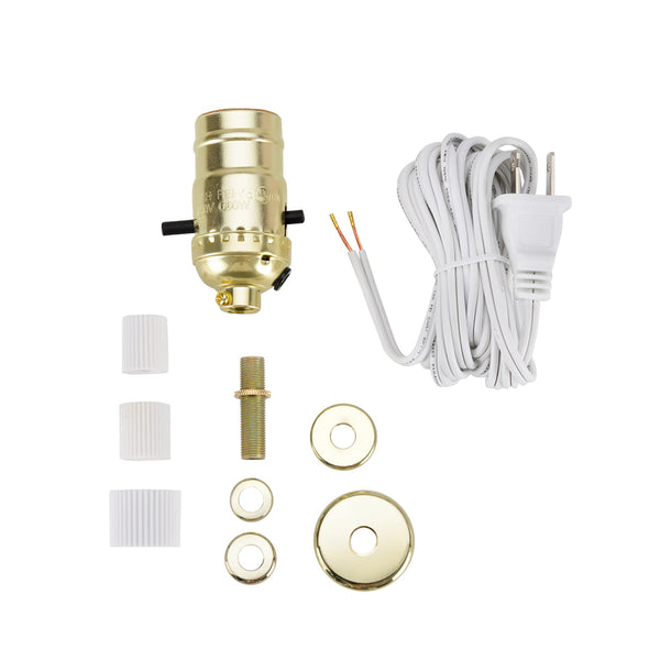 # 21017 Make-A-Bottle Lamp Kit in Polished Brass, 1 Pack