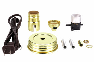 # 21028 Mason Jar Lamp Kit in Brass