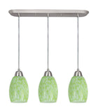 # 21038-11 , Three-Light Hanging Socket Mini Pendant Kit in Satin Nickel and 4 feet of SVT Cord