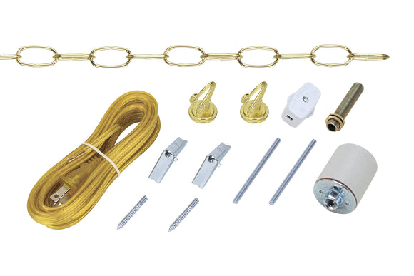 # 21039 Swag Light Kit in Polished Brass
