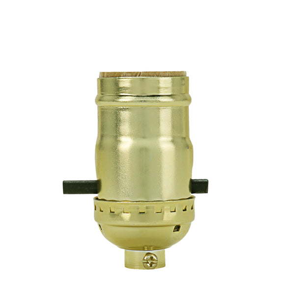 # 21313-11, Push Through Aluminum Lamp Socket in Polished Brass