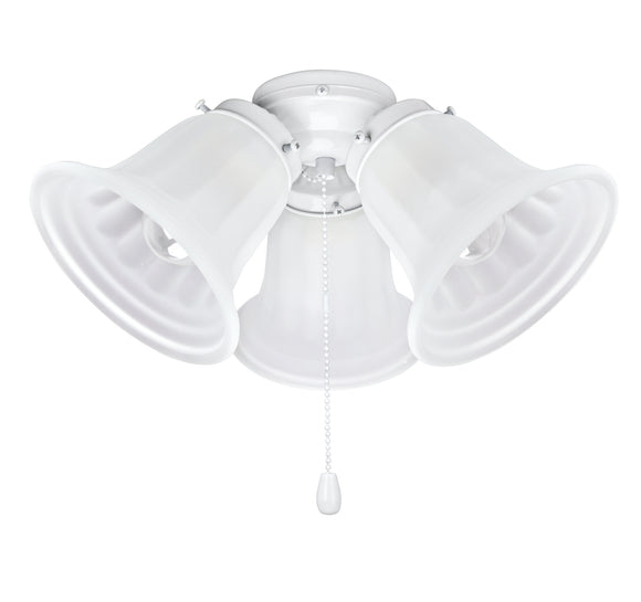 # 22002-21, Three-Light Ceiling Fan Fitter Light Kit with Pull Chain, 5 1/2