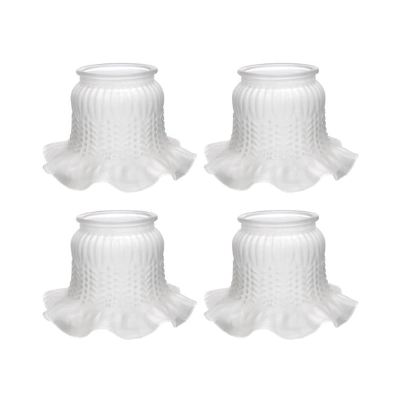 # 23004-4 Frosted Rosebud Transitional Style Replacement Glass Shade, 3 7/8