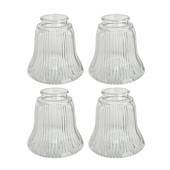 # 23010-4 Transitional Style Replacement Bell Shaped Ribbed Glass Shade, 2 1/4