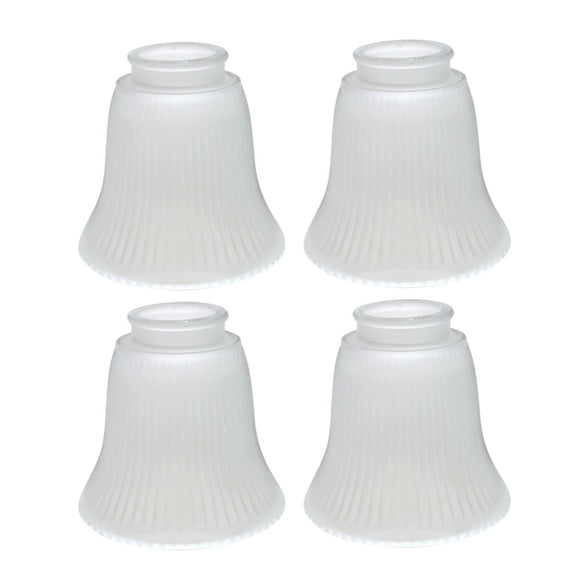 # 23014-4 Transitional Style Replacement Bell Shaped Frosted Ribbed Glass Shade, 2 1/4