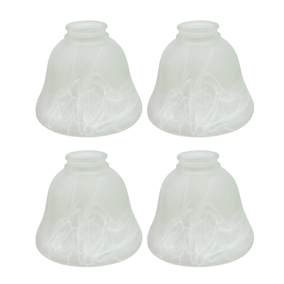 # 23018-4 Transitional Style Replacement Bell Shaped Frosted Alabaster Glass Shade, 2 1/4