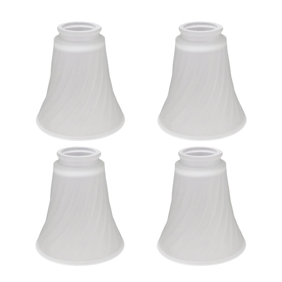 # 23034-4 Transitional Style Replacement Frosted Swirl Glass Shade, 2 1/4