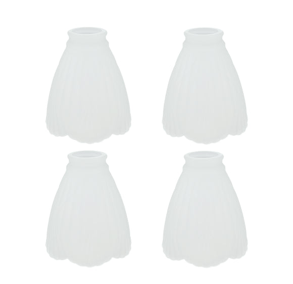 # 23042-4 Transitional Style Replacement Clear with Sandblasted Accents Glass Shade, 2-1/4