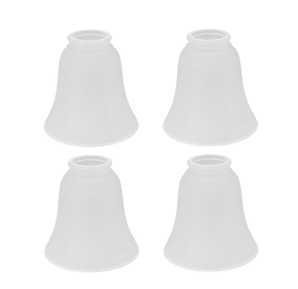 # 23046-4 Transitional Style Bell Shaped Frosted Replacement Glass Shade, 2-1/8