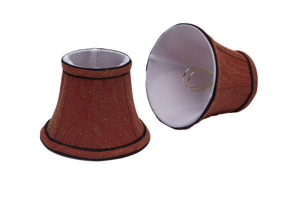 # 30001-2 Bell Shaped Clip-On Shade (2 Pack) in Rust - also sold in 5, 6 and 9 Packs - Aspen Creative Corporation