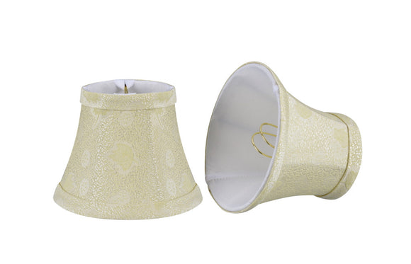 # 30007-X Small Bell Shape Mini Chandelier Clip-On Lamp Shade, Transitional Design in Butter Crème, 5