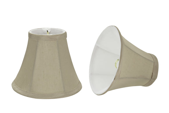 # 30008-X Small Bell Shape Mini Chandelier Clip-On Lamp Shade, Transitional Design in Butter Creme, 6