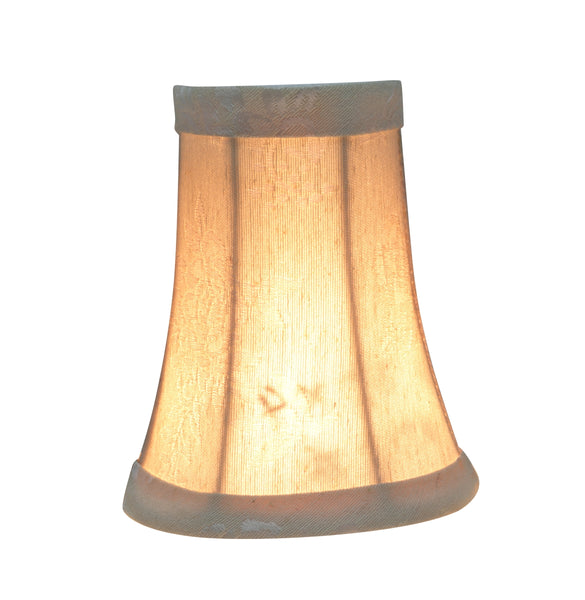 "# 30014-X Small Bell Shape Mini Chandelier Clip-On Lamp Shade, Transitional Design in Creme, 4"" bottom width ( 2 1/2"" x 4"" x 5"" ) - Sold in 2, 5, 6 & 9 Packs"