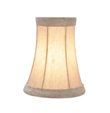 "# 30015-X Small Bell Shape Mini Chandelier Clip-On Lamp Shade, Transitional Design in Light Gold print, 4"" bottom width (2 1/2"" x 4"" x 5"" ) - Sold in 2, 5, 6 & 9 Packs"