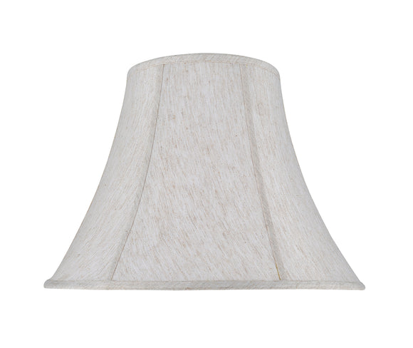 # 30026 Transitional Bell Shape Spider Construction Lamp Shade in a Linen White Linen Fabric, 18