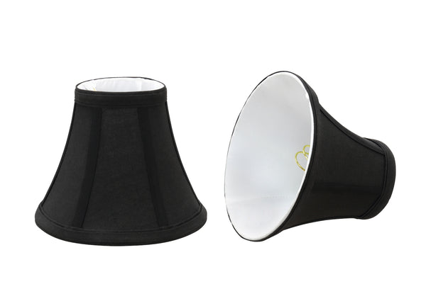 # 30034-2  Bell Shaped Clip-On Shade (2 Pack) in Black - also sold in 5, 6 and 9 Packs - Aspen Creative Corporation