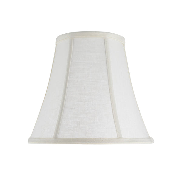 # 30040 Transitional Bell Shape Spider Construction Lamp Shade in Off White Linen Fabric, 11