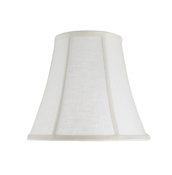 "# 30040 Transitional Bell Shape Spider Construction Lamp Shade in Off White Linen Fabric, 11"" wide (6"" x 11"" x 9 3/4"")"