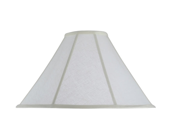 # 30042 Transitional Bell Shape Spider Construction Lamp Shade in Off White Linen Fabric, 18