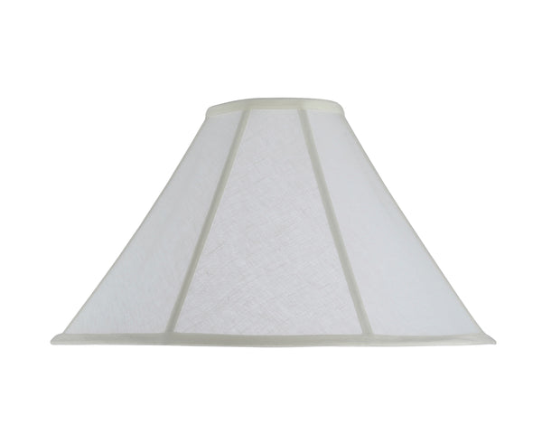 "# 30042 Transitional Bell Shape Spider Construction Lamp Shade in Off White Linen Fabric, 18"" wide (5 1/2"" x 18"" x 11 1/2"")"