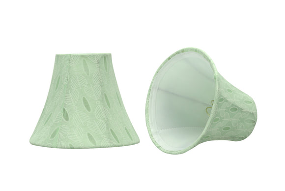 # 30058-X Small Bell Shape Mini Chandelier Clip-On Lamp Shade, Transitional Design in Light Green, 6