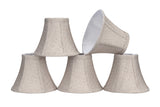 "# 30059-X Small Bell Shape Mini Chandelier Clip-On Lamp Shade, Transitional Design in Beige, 6"" bottom width (3"" x 6"" x 5"") - Sold in 2, 5, 6 & 9 Packs"