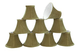 "# 30062-X Small Bell Shape Mini Chandelier Clip-On Lamp Shade, Transitional Design in Brown Green, 6"" bottom width (3"" x 6"" x 5"") - Sold in 2, 5, 6 & 9 Packs"