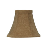 "# 30063-X Small Bell Shape Mini Chandelier Clip-On Lamp Shade, Transitional Design in Rusty Red, 6"" bottom width (3"" x 6"" x 5"") - Sold in 2, 5, 6 & 9 Packs"