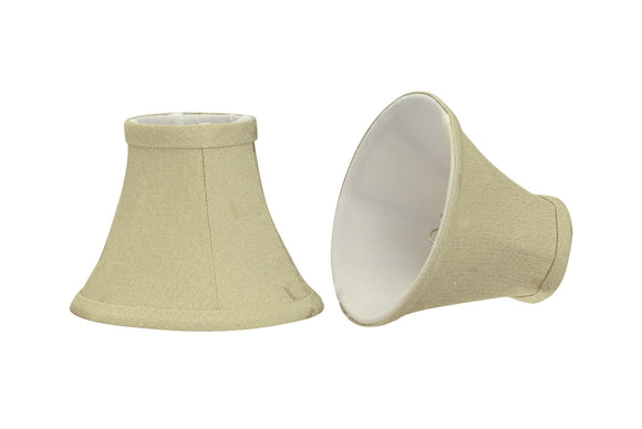 # 30065-X Small Bell Shape Mini Chandelier Clip-On Lamp Shade, Transitional Design in Camel, 6