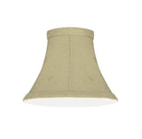 "# 30065-X Small Bell Shape Mini Chandelier Clip-On Lamp Shade, Transitional Design in Camel, 6"" bottom width (3"" x 6"" x 5"") - Sold in 2, 5, 6 & 9 Packs"