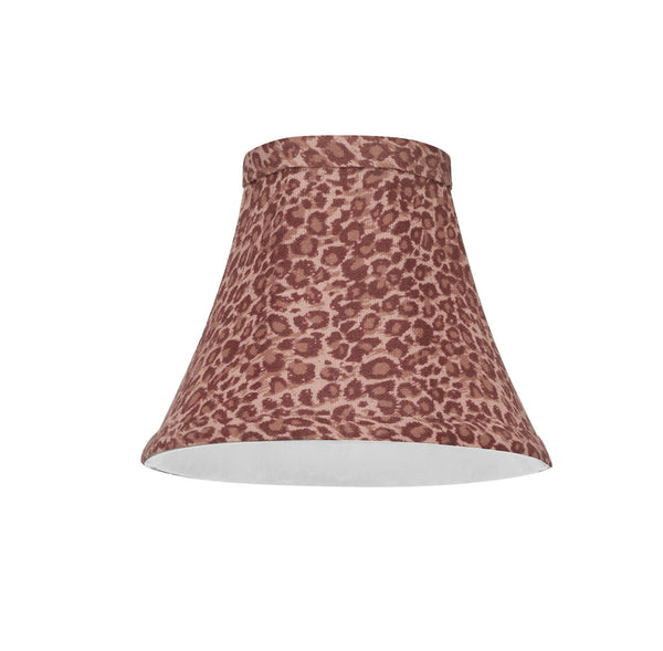 "# 30068-X Small Bell Shape Chandelier Clip-On Lamp Shade Set of 2, 5, 6,and 9, Transitional Design in Red Leopard Pattern, 6"" bottom width (3"" x 6"" x 5"")"