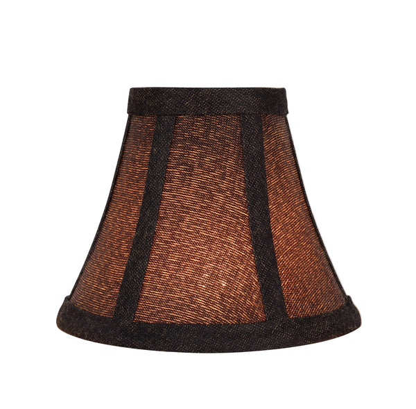 "# 30070-X Small Bell Shape Chandelier Clip-On Lamp Shade Set of 2, 5, 6,and 9, Transitional Design in Two-Tone Black, 6"" bottom width (3"" x 6"" x 5"" )"