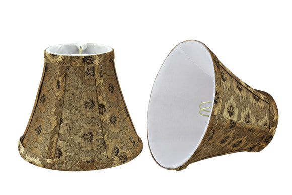 # 30073-X Small Bell Shape Chandelier Clip-On Lamp Shade Set of 2, 5, 6,and 9, Transitional Design in Pumpkin Gold, 6