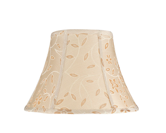 # 30091  Transitional Bell Shape Spider Construction Lamp Shade in Gold with a Floral Design, 13