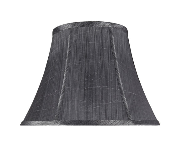 # 30096 Transitional Bell Shape Spider Construction Lamp Shade in Grey Black Synthetic Fabric, 13