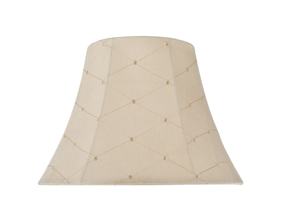 # 30097 Transitional Bell Shaped Spider Construction Lamp Shade in Off-White, 13
